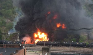 Lyncburg, Virginia oil train wreck. April 30, 2014.